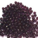 50 Vintage Purple Fire Polish Czech Glass Round Bead 8mm