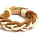 Hawaiian Jewelry Surfer Braid Bracelet Ankle Brown Leather Jute