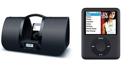 Ipod Music Bundle - Apple 8GB iPod Nano (Black) + JWIN I552-ILUV IPOD DOCK BLACK