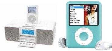 Ipod Music Combo - Apple 8GB iPod nano (Blue) + Jensen Universal iPod Docking Music System