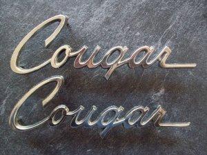 1975 Cougar emblems