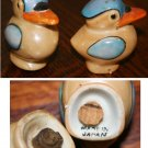 Irridized Bird Salt and Pepper Shakers, Marked Japan on bottom, Vintage Lusterware