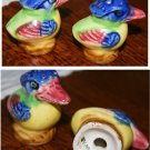 Colorful Bird Salt and Pepper Shakers, Made in Japan on bottom, very old!