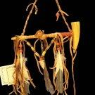 Native American Indian Beaded Bone Peace Pipe