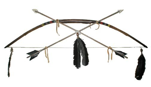 Native American Indian Handmade Beaded Bow and Arrow Set