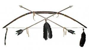 Native American Indian Handmade Beaded Bow and Arrow Set