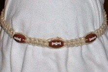 HEMP FOOTBALL NECKLACE