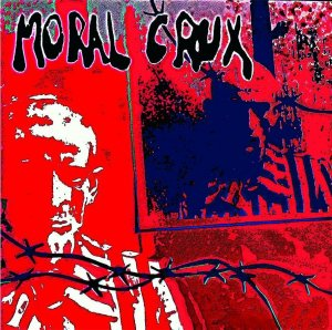 Moral Crux - S/T (White w/ Red)