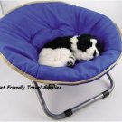 Flipo Comfort Suspension Bed Round Nylon Pet Moon Chair Adjustable Frame Small Dog Cat up to 20 lbs