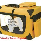 PET GEAR Deluxe Soft Dog Crate Kennel Cage X-Small~Gold holds pets up to 15 lbs.