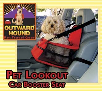 Nylon Outward Hound Pet Lookout Car Booster Seat ~ Small Dog holds pets up to 20 lbs.