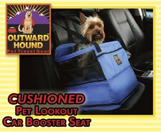 outward hound nylon pet lookout medium car booster dog seat holds pets up to 30 lbs. Black Bedroom Furniture Sets. Home Design Ideas