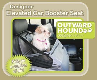Outward Hound Designer Elevated Car Dog Booster Seat Medium holds pets up to 30 lbs.