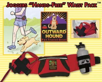 Outward Hound Joggers Hands Free Waist Pack Dog Pet