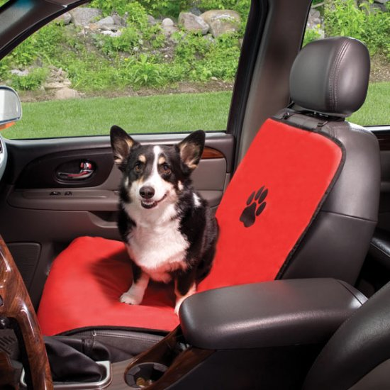 Guardian Gear Single Bucket Dog Car Seat Cover Red or Black