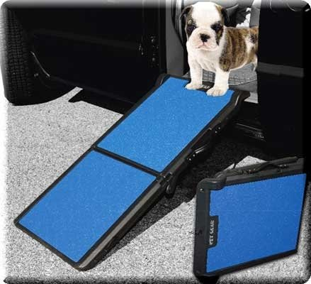 Pet Gear Portable Bi-Fold Pet and Dog Ramp - Blue