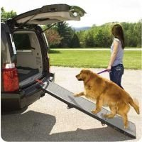 Pet Gear Portable Tri-Fold Pet and Dog Ramp Grey