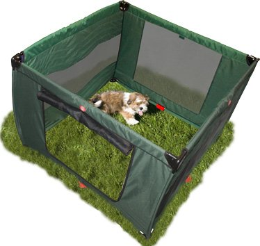 Pet Gear Home 'N Go Pet Pen Dog Puppy Play Area ~ Moss Green 48 x 48 x 36