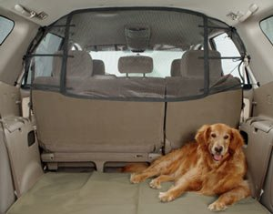 Solvit Net Pet Barrier Secures Dog Safely in Rear of Vehicle