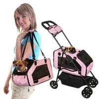 Pet Gear Travel System Stroller Carrier Car Seat 3 in 1 Blue Pink holds pet up to 15 lbs.