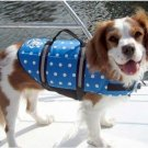 Paws Aboard Nautical, Pink or Blue Polka Dot Designer Dog Safety Life Jacket Vest Preserver X-Small