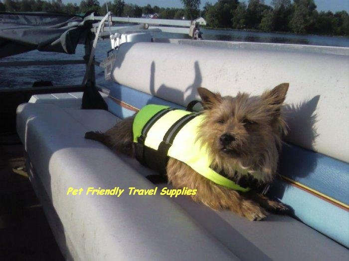 SOLD OUT Paws Aboard Neon Yellow Dog Safety Life Jacket Vest Preserver Medium