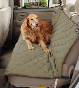 SOLVIT Deluxe Quilted Dog Pet Rear Bench Car Seat Cover