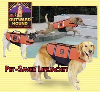 Outward Hound Pet Saver Dog Life Jacket Vest Safety Preserver Small