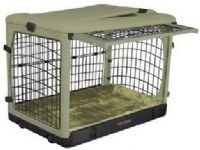 "Pet Gear Steel Dog Crate Kennel The Other Door 42"" Large sage brick"