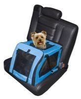 Small Signature Pet Dog Car Seat Carrier - Aqua - holds pets up to 25 lbs.