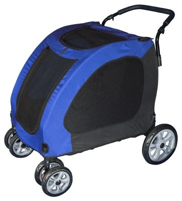 Pet Gear Expedition Pet Dog Stroller Blue Sky or Burgundy extra wide large dogs up to 150 lbs.