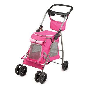 Cruising Companion Classic Pet Dog Stroller Pink or Blue holds pets up to 15 lbs.