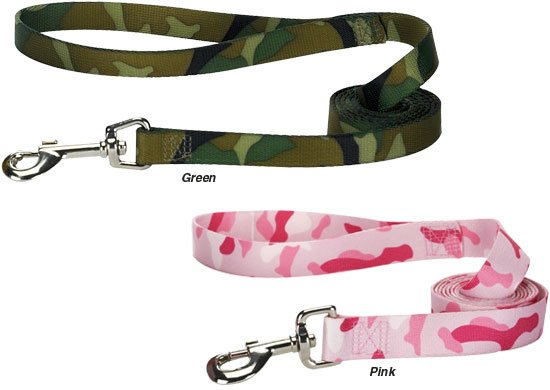 Guardian Gear Camo Dog Leads 6 foot long Pink or Green