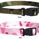 Guardian Gear Nylon Camo Dog Collar Small 10 - 16 in. necks Pink Green