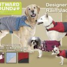 Outward Hound Dog Designer Rain Jacket - Foul Weather Gear - Large Designer Colors