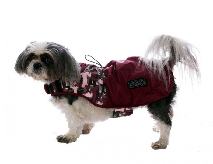 Outward Hound Dog Designer Rain Jacket - Foul Weather Gear - Medium Designer Colors