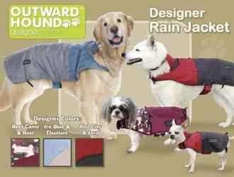 Outward Hound Dog Designer Rain Jacket - Foul Weather Gear - X-Small Designer Colors