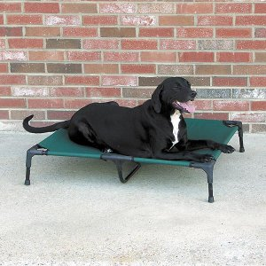 Medium Guardian Gear Portable Pet Cot Dog Bed ~ Green ~ holds pets up to 120 lbs.