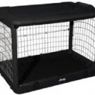 "JEEP Steel Dog Crate 36"" Medium Kennel Home - Black"