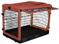 "Pet Gear Steel Dog Crate Kennel The Other Door 27"" Small Brown Sage"