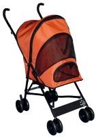 ORANGE Pet Gear Travel-Lite Dog Stroller dogs up to 20 lbs. Keeps pesky bugs out