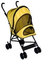 YELLOW Pet Gear Travel-Lite Dog Stroller dogs up to 20 lbs. Keeps pesky bugs out