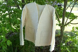 Chic & Shabby Raggedy Quilted Ladies Jacket Handcrafted Size M-L