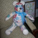 Vintage Quilt Teddy Bear  Hand sewn One of a Kind Adopt a Bear
