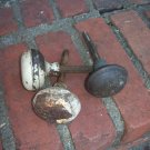 Vintage Metal Door Knobs Industrial Rustic Restoration Hardware Rusty Set of 3