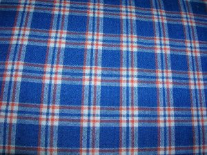 Blue and Orange Plaid Shopping Cart Cover