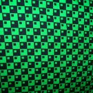 Green and Black Squares Shopping Cart Cover