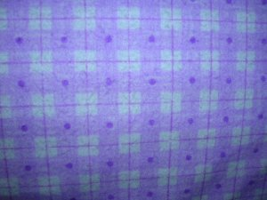 Purple Plaid Shopping Cart Cover
