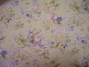 Boy and Girl Toile Shopping Cart Cover