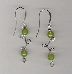 Handmade Wire Sculpted Earrings